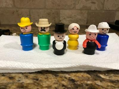 lot of  Vintage Fisher Price Little People mix  Wood & Plastic