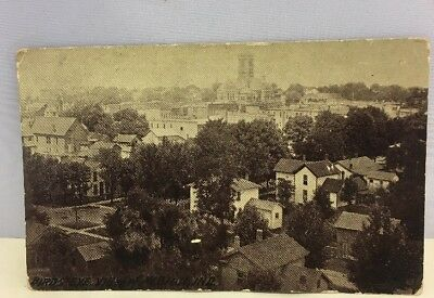 Antique RPPC Real Photo Post Card Birds Eye View Albion Indiana IN 1913