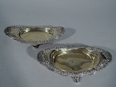Tiffany Chrysanthemum Bowls - 10747 - Antique Pair - Sterling Silver