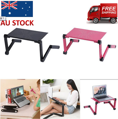 Adjustable Folding Laptop Notebook Computer Desk Table Stand Portable Bed Tray