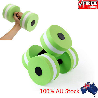 2XSwimming EVA Floating Dumbbell Aquatic Barbell Water Aerobics Fitness Exercise