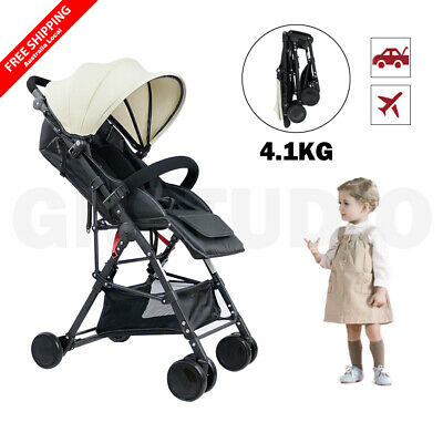 Compact Lightweight Baby Stroller Pram Foldable Pushchair Travel Carry On Plane