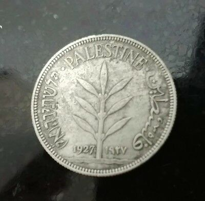Palestine British Mandate 100 Mils 1927 Collectibles Condition Silver Coins