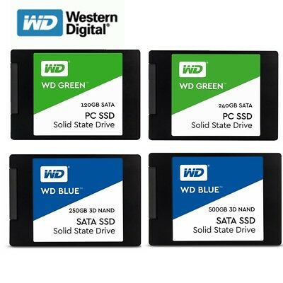 SSD 120GB 240GB 250G 500G WD Green Blue Solid State Drive HDD 2.5''