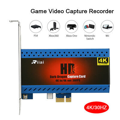 YK763 4K 1080P@60fps In/Out Game Video Capture Card PCIe Live Streamer Recorder