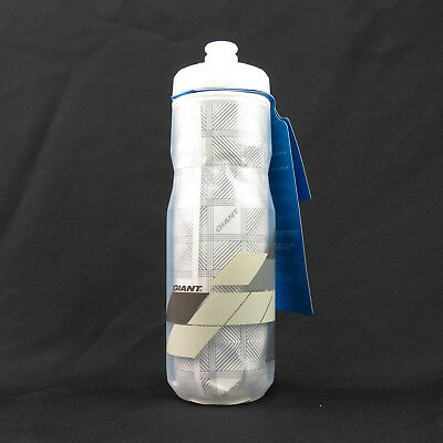 f7d8bceccb 480000032 PourFast EverCool Double Spring Bike Water Bottle 600ml - Clear x  Grey