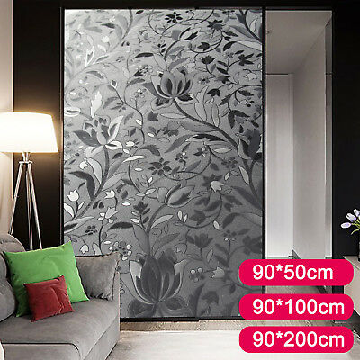 Premium Glass Frosted Vinyl Privacy Window Film 3D Reflective Etched 50cm-200cm