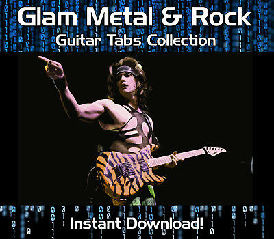 Glam Metal & Rock Guitar Tab Tablature Download Song Book Software Tuition