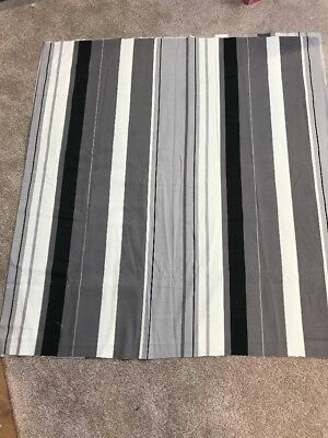 Reversible gold grey stripe shiny silver blockout crafts remnant fabric material