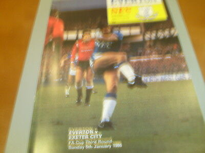 Everton v Exeter 85/86 FA Cup