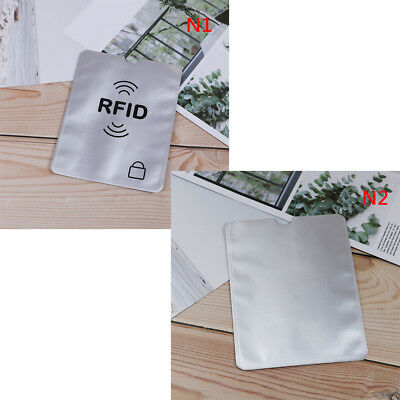 5pcs RFID credit id card passport holder blocking protector case shield cover FT