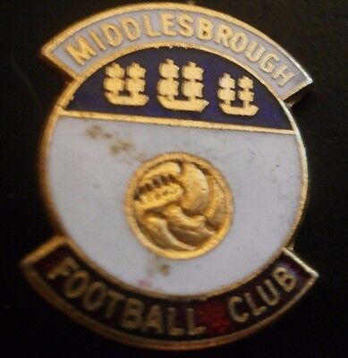 Middlesbrough Football Club Brooch Pin Badge Maker Coffer Red/White