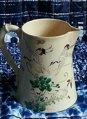 SIGNED KINKOZAN SATSUMA Pitcher, Meiji Period