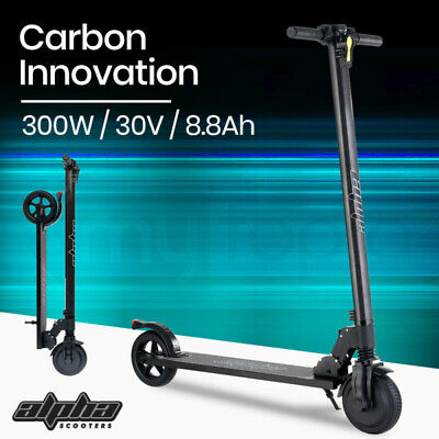 BULLET 300W 10.4Ah Electric Scooter Carbon Fiber Portable Foldable Commuter Bike