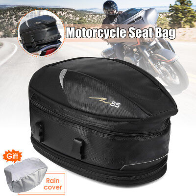 Motorcycle Touring Rear Pillion Seat Tail Bag Luggage Expandable Waterproof Pack