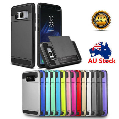 Galaxy Note 9 Case Shockproof Armor Card Slot Wallet Cover For Samsung