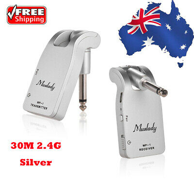 2.4G Wireless Guitar System Transmitter & Receiver Built-in Rechargeable