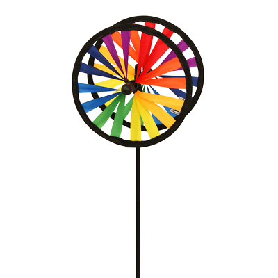 wetterfest Windspiel Magic Wheel Twin 25 mit Standstab Höhe: 65cm Ø: 2x25cm