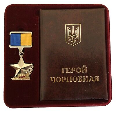 Hero of Chernobyl Ukrainian Medal Participant in Liquidation of Nuclear Disaster
