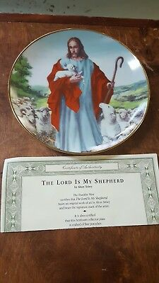 The Lord Is My Shepherd Franklin Mint Alton Tobey Plate with COA 1992