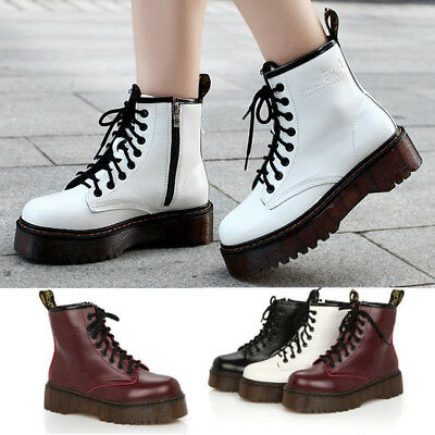 Platform Autumn Winter Warm Motorcycle Martin Women/'s Punk Ankle Boots Ridding
