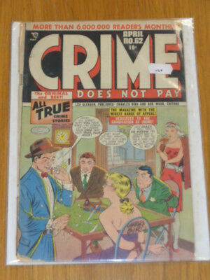 Crime Does Not Pay #62 Fr (1.0) Lev Gleason Comics April 1948