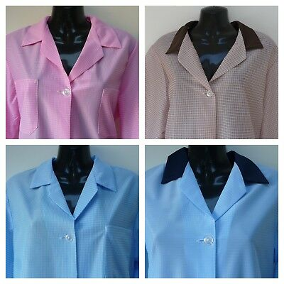 Alexandra Vintage School Dinners Dinner Lady Workwear Overall Coat MADE IN UK K3