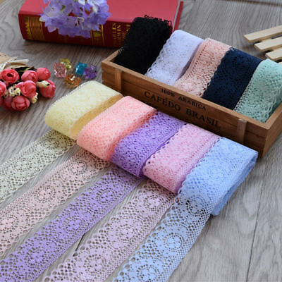 Pretty 10 Yards Lace Ribbon 40MM Lace Trim DIY Embroidered For Sewing Decoration