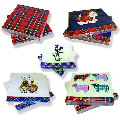 Pack Of 20 Paper Napkins 3 Ply Tableware Triple Ply Soft Serviettes Square Party