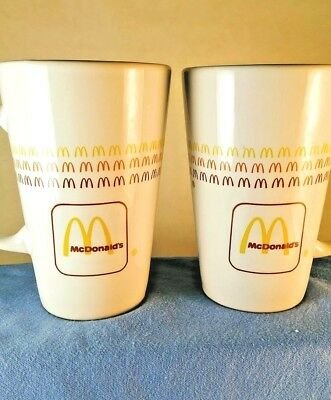 2 Vintage McDonald's Mugs Tall CoffeeLatte Golden Arches Group II Communications