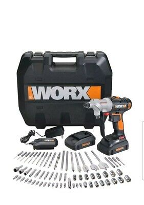 WX176L.1 WORX 67 pc. 20V Lithium Switchdriver Cordless Drill/ Driver 2 batteries