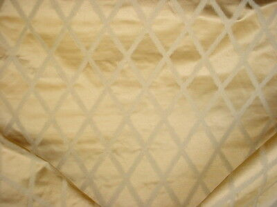 1Y Lee Jofa Antiqued Gold Silk Zig Zag Chevron Drapery Upholstery Fabric