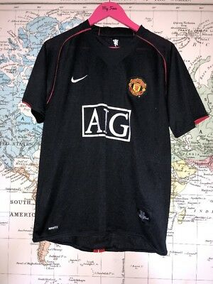 Adults Nike Mufc Manchester United 2007 Retro Football Shirt Size M #32 Tevez
