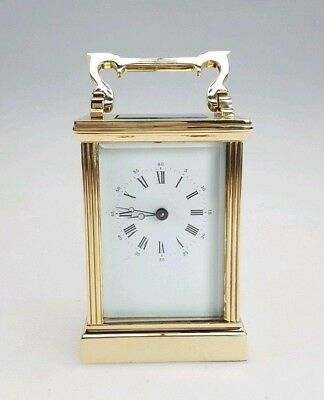 Le Epee Solid Brass 8 Day Swiss Made Carriage Clock