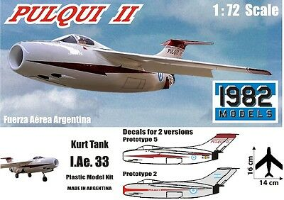 "FMA IAe. 33 ""Pulqui II"" Kurt Tank Luft 46 1/72 scale model kit 1982 Models"