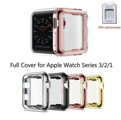 iWatch Apple Watch Series 3 2 1color protector Cover Case with Screen 38mm 42mm
