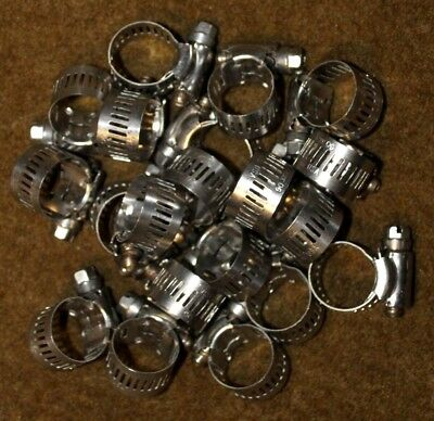 """Lot Of 20 Ideal 7/8"""" Size 06 10-22Mm Stainless Steel Hose Clamps Best Price!!! 2"""