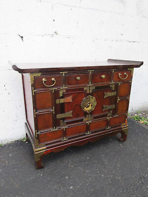 Hollywood Regency Vintage Oriental Small Jewelry Chest Box Storage Cabinet 8981
