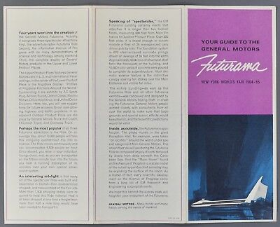 1964-1965 New York World's Fair Futurama General Motors Pavilion Brochure