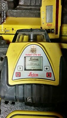Leica Rugby 270SG Single Grade Slope Auto Laser Level w/ Receiver 270 SG