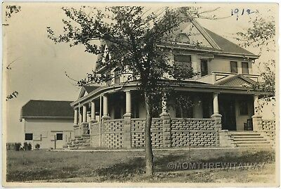 1912 Photo IA Iowa Holstein Big Victorian House Home Norton Residence