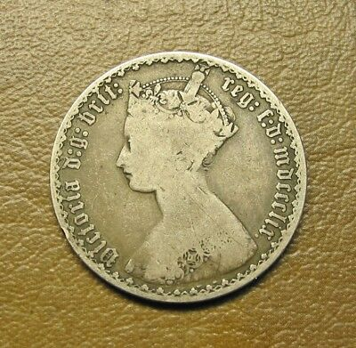 1859 Sterling Silver English Gothic Florin
