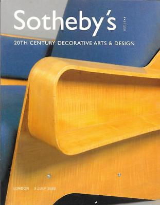 Sotheby's 20th Century Decorative Arts & Design Auction Catalog July 2002