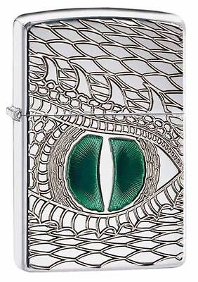 Zippo 28807, Armor, Dragon Eye, Deep Carved, HP Chrome Lighter, Pipe Insert (PL)