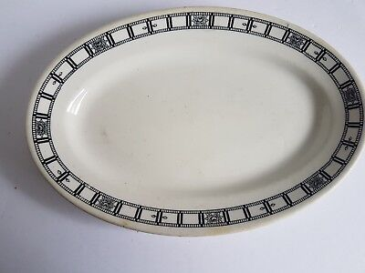 Vintage Small Oval Platter Plate John Maddock and Sons England Vitrified