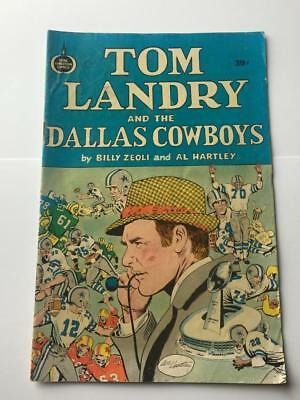 Tom Landry and the Dallas Cowboys Christian Spire Comics 1970's 39 cents VG