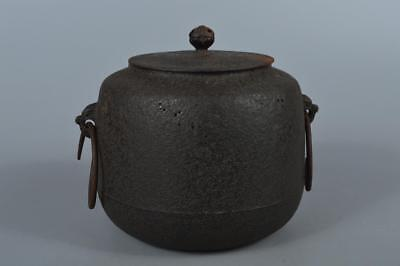 R1321: Japanese Iron TEAKETTLE Teapot Chagama Tea Ceremony