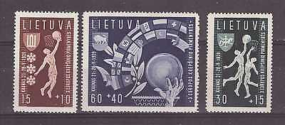 Lithuania 1939 Mi No: 429-431. European Basketball Championship Issue