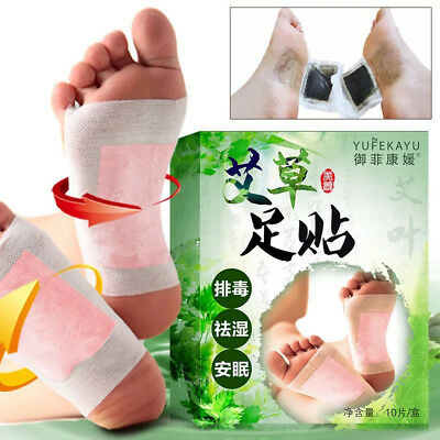 10pcs Foot Pads Wormwood Extract Health Care Detox Help Sleep Relax Patch