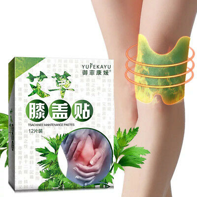 12pcs Knee Pads Wormwood Extract Health Care Detox Moxibustion Relax Patch